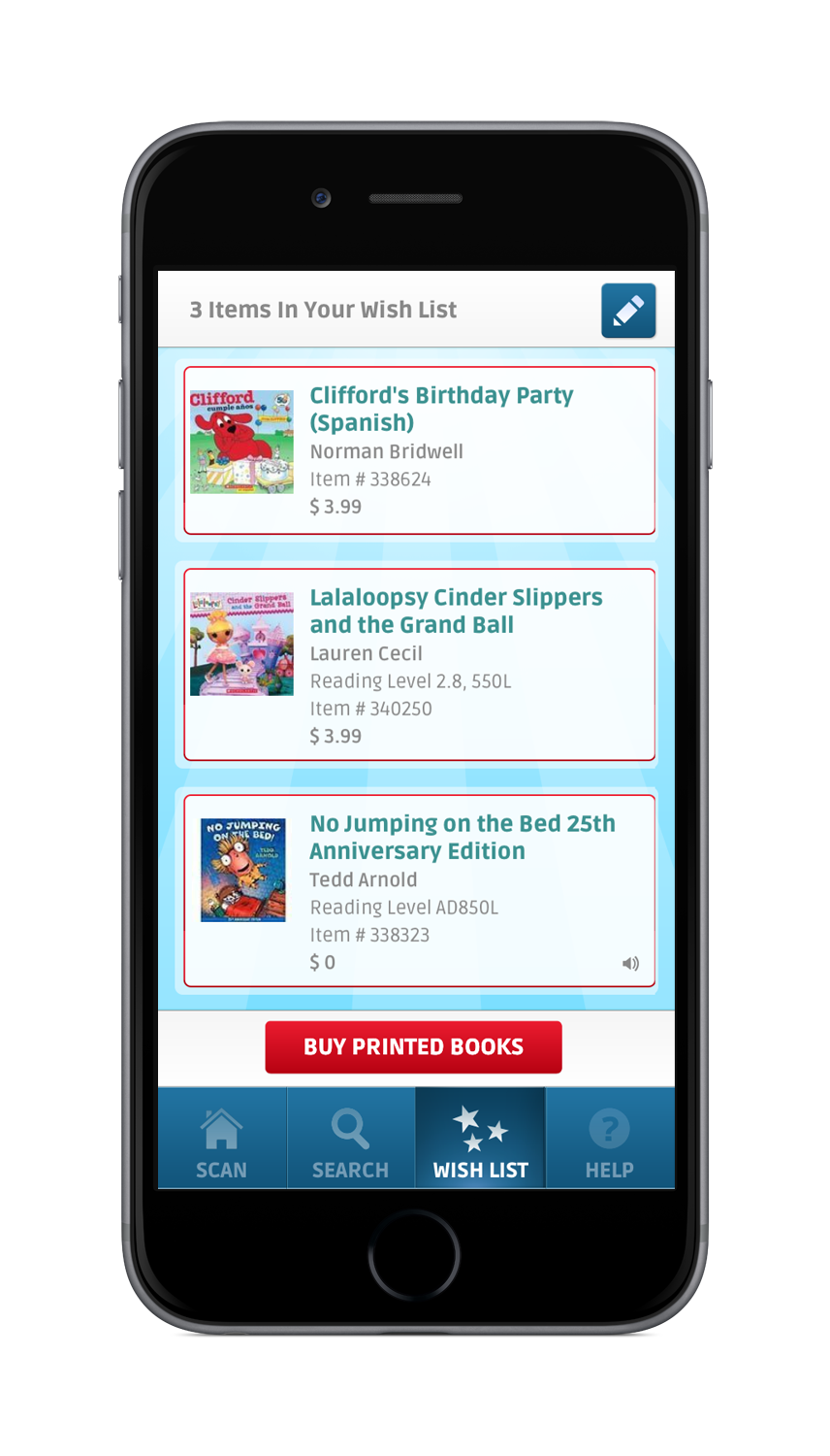 Scholastic Book Fairs App - Search Results