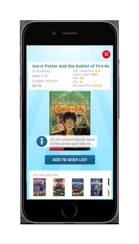 Scholastic Book Fairs App - Book Details