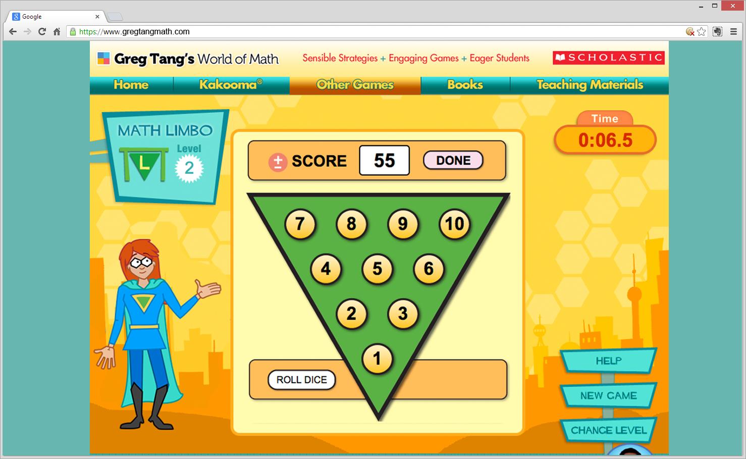 Greg tang math mini game