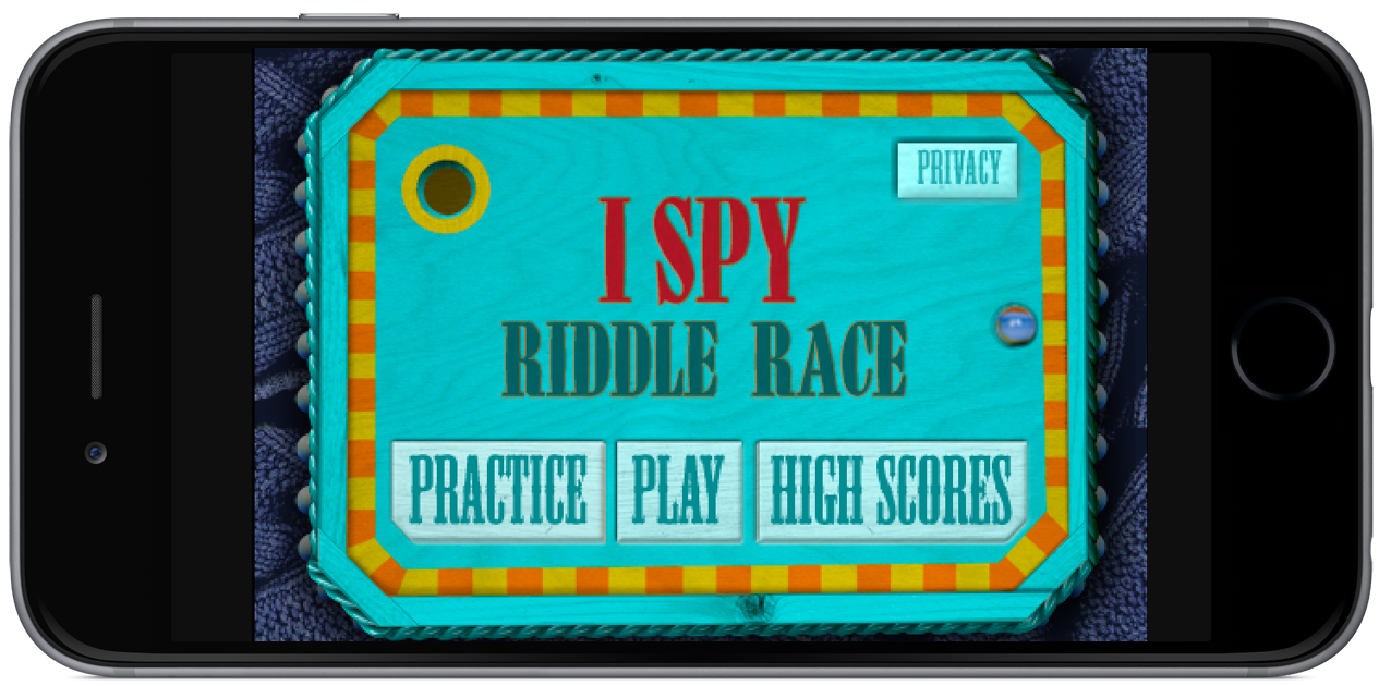 I Spy Riddle Race Home Screen