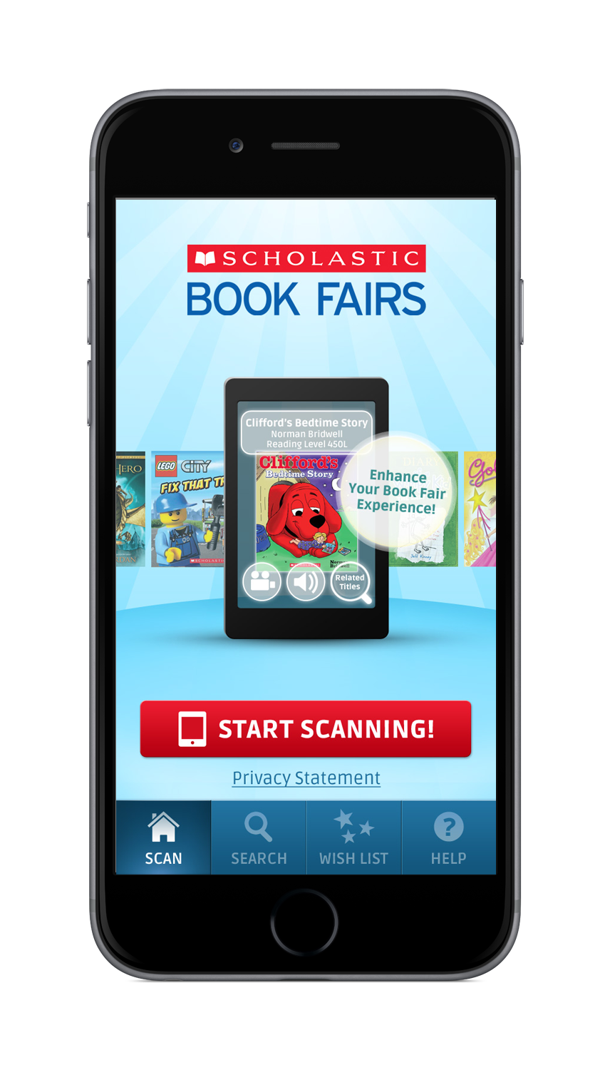 Scholastic Book Fairs App - Home Screen