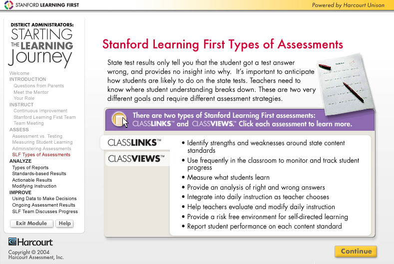 Stanford Learning First Assessments